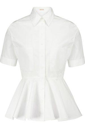 Alaïa Peplum cotton poplin shirt