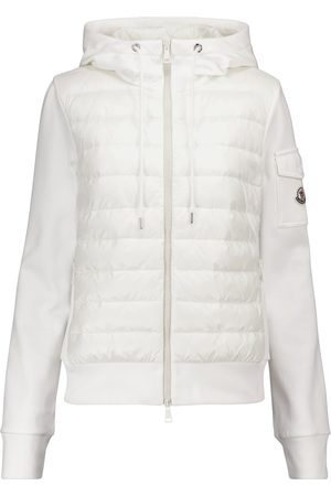 Moncler Down and cotton jersey jacket
