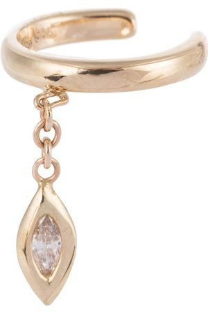 JACQUIE AICHE Marquise 14kt gold single ear cuff with diamond