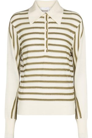 Chloé Polo collar wool-blend sweater