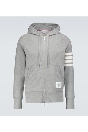 Thom Browne Mænd Sweatshirts - Zipped 4-Bar hooded sweatshirt