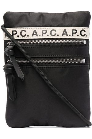 A.P.C. Logo tape-detail messenger bag