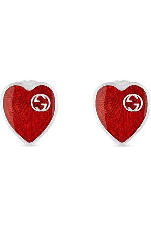 Gucci øreringe med hjerte-logo