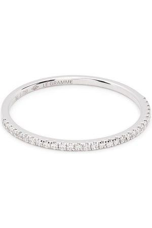 Le Gramme Ringe - Pavéfattet 1g diamantring i 18 karat hvidguld
