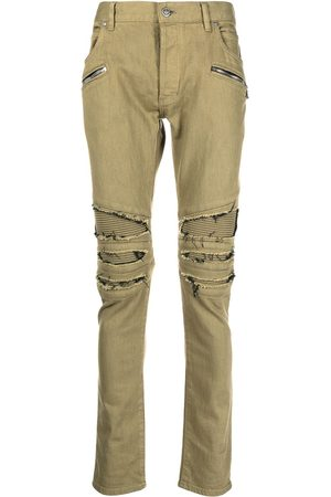 Balmain Ribbede skinny-jeans med lommer