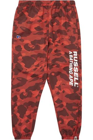 A BATHING APE® X Russell Colour Camo track pants
