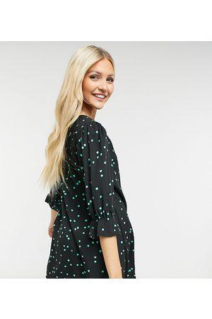 Wednesday's Girl Minikjole med knapper foran i print med spredte prikker