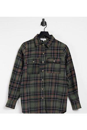 In The Style Oversized skjorte med tern i grøn og multifarve - Kun hos ASOS