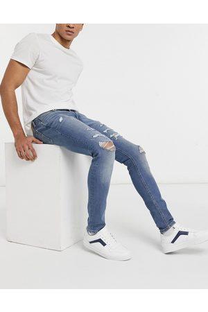 Jack & Jones Intelligence - Liam - skinny-jeans med flænger