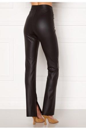BUBBLEROOM Kvinder Leggings - Iza PU slit leggings Black M