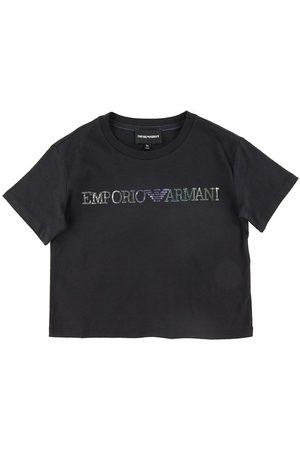 Emporio Armani T-shirt - Navy m. Pailletter