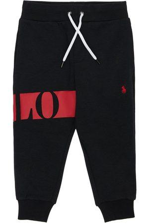 Ralph Lauren Drenge Joggingbukser - Logo Print Cotton Sweatpants