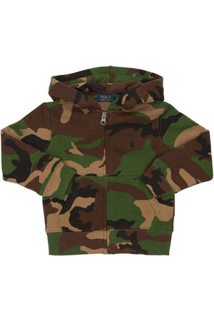 Ralph Lauren Drenge Sweatshirts - Camouflage Cotton Sweatshirt Hoodie
