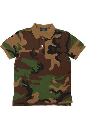 Ralph Lauren Camouflage Cotton Piquet Polo Shirt