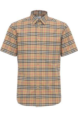Burberry Check Print Simpson Cotton S/s Shirt
