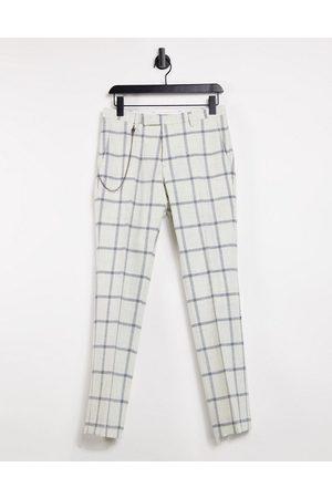 Twisted Tailor Skinny-bukser med kæde i med vinduestern