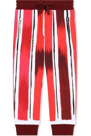 Dolce & Gabbana Painted stripe track pants
