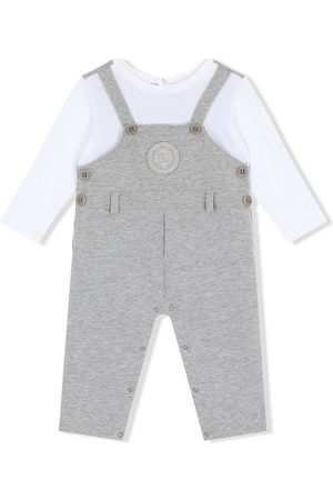 Dolce & Gabbana Baby Sparkedragter - Dungarees-style logo-patch romper