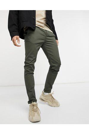 ASOS Skinny chinos i khaki-Grøn