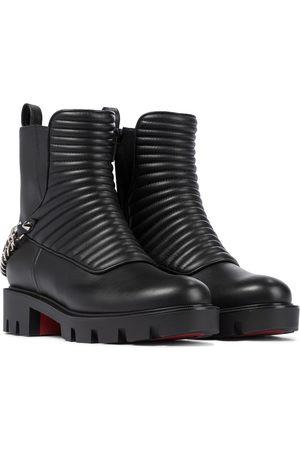 Christian Louboutin Maddic Max leather combat boots