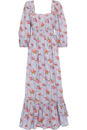 LOVESHACKFANCY Minnia floral cotton maxi dress