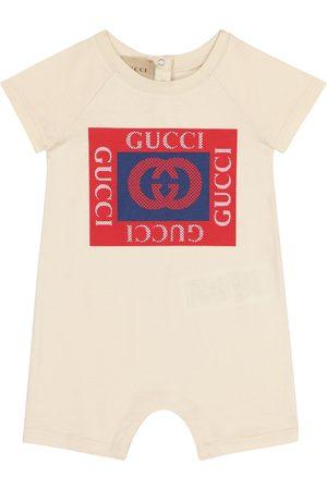 Gucci Onesies - Baby logo cotton onesie