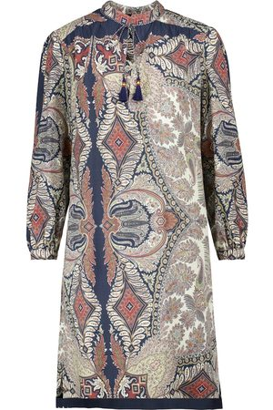 Etro Kvinder Mønstrede kjoler - Printed wool and silk midi dress