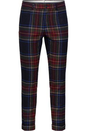 GANT D2. Slim Pleated Tartan Pant Casual Bukser