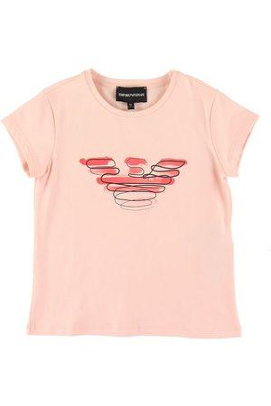 Emporio Armani Kortærmede - T-shirt - Rosa m. Logo