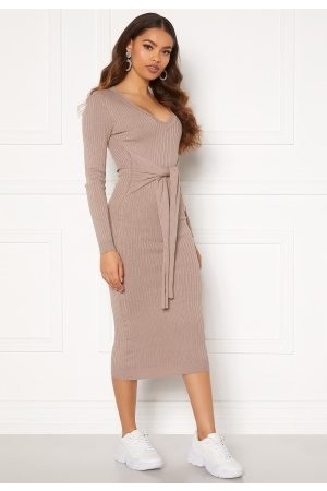 BUBBLEROOM Kvinder Strikkede kjoler - Adelie knitted dress Light brown L