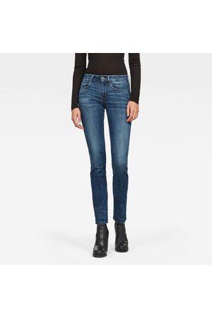 G-Star Kvinder Straight - Women 3301 Deconstructed Mid Straight Jeans Medium blue