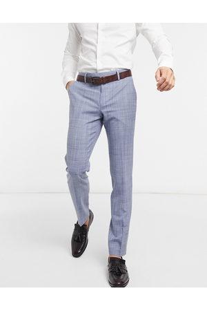 ASOS Wedding - Marineblå skinny-habitbukser med crosshatch-mønster