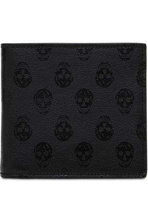 Alexander McQueen Mænd Punge - Skull Print Leather Wallet