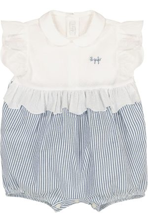 Il gufo Piger Playsuits - Baby striped stretch-cotton playsuit