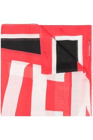 Givenchy Mænd Tørklæder - Colour-block logo print scarf