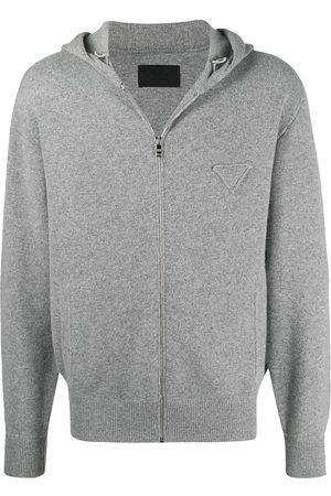 Prada Mænd Strik - Strikket hættetrøje med logo