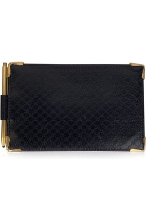 Gucci Monogram Leather Document Holder Wallet with Pen