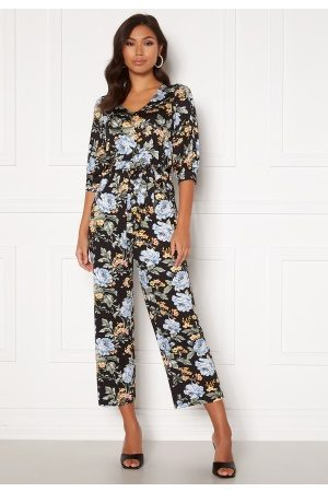 Happy Holly Tova puff v-neck jumpsuit Floral 32/34