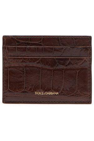 Dolce & Gabbana Kortholder i alligatorlæder
