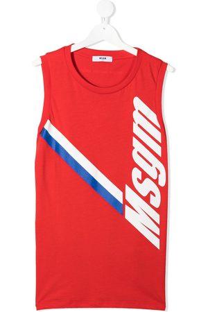 Msgm Logo-print cotton vest