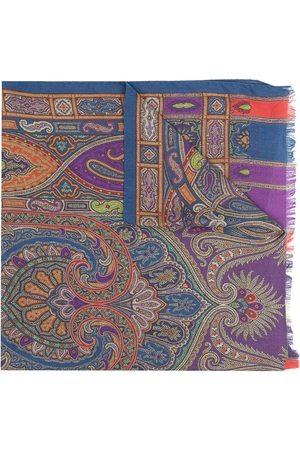Etro Tørklæde med paisleytryk og frynser