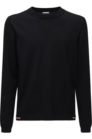 Moncler Cotton Knit Crew Sweater