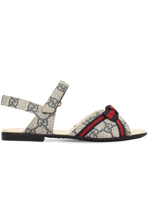 Gucci Gg Supreme Faux Leather Sandals