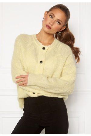 Selected Lulu LS Knit Cardigan Pastel Yellow M