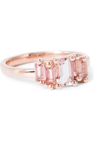 Suzanne Kalan 14kt rose gold ring with morganite