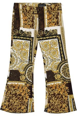 VERSACE Piger Leggings - Barocco Patchwork flared pants