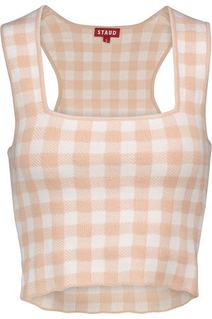 Staud Trail checked tank top