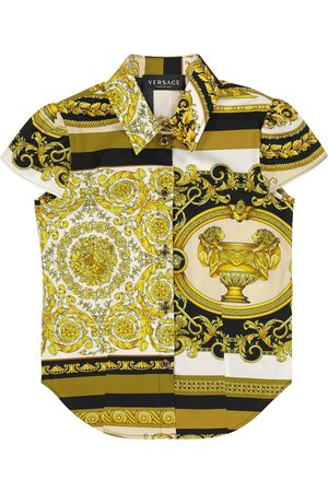 VERSACE Piger Hipsters - Barocco Mosaic cotton shirt
