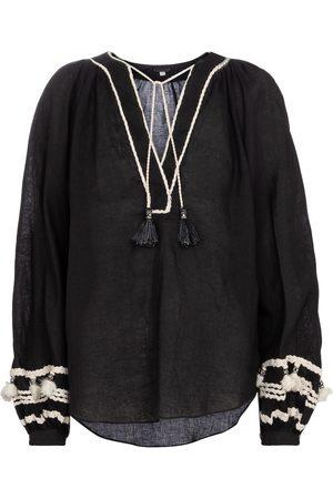 JOHANNA ORTIZ Cursos Del Rio linen and cotton blouse