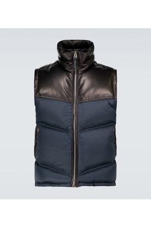 Tom Ford Mænd Veste - Nylon and leather down-filled gilet